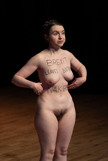 Victoria Bateman Naked Brexit Protest Lecture Cambridge